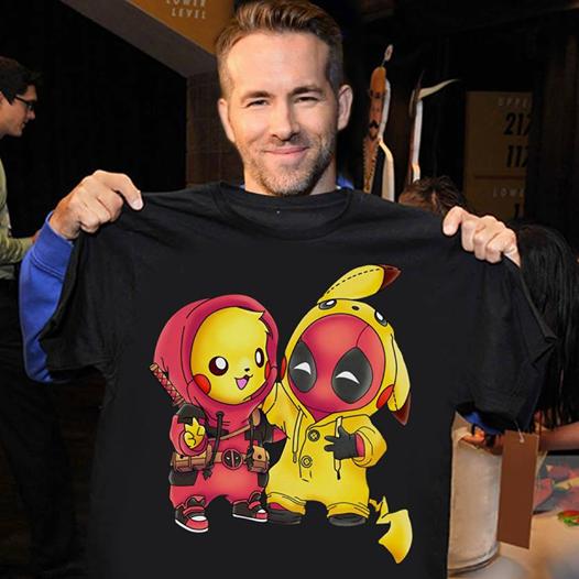 Pikachu Deadpool Funny T-Shirt Pokemon Lover Unisex T-Shirt All Sizes S-5XL
