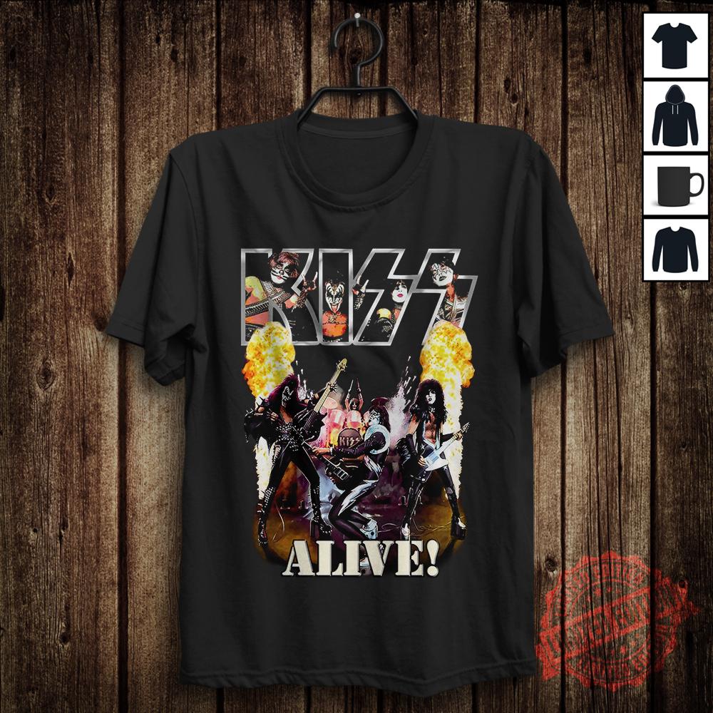 Kiss Alive! Vintage Mens Cotton Black T-Shirt Size S-5XL