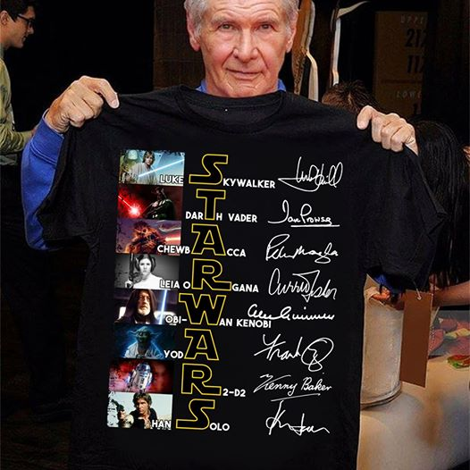 Star Wars All Characters Signature Shirt Gift For Fans Star Wars T-Shirt Size S-5XL