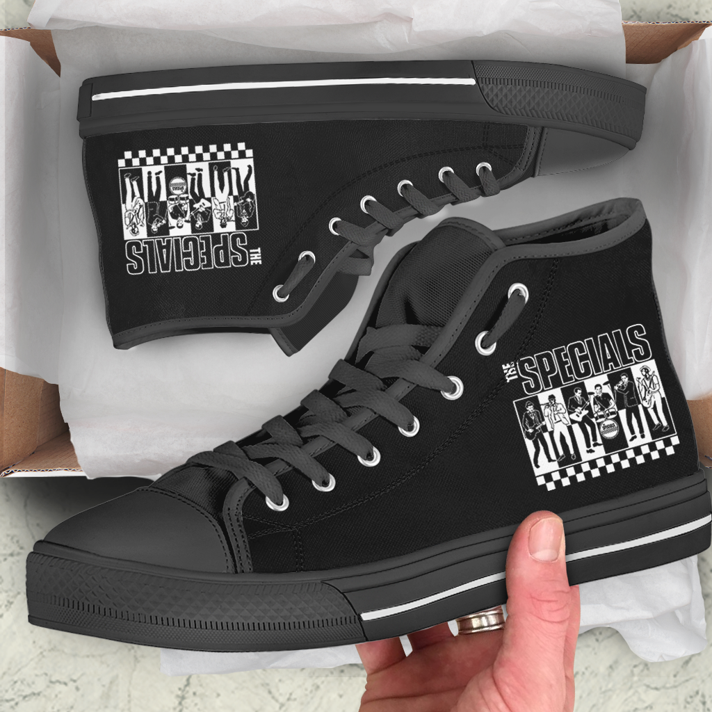 The Specials Band Shoes High Top Canvas