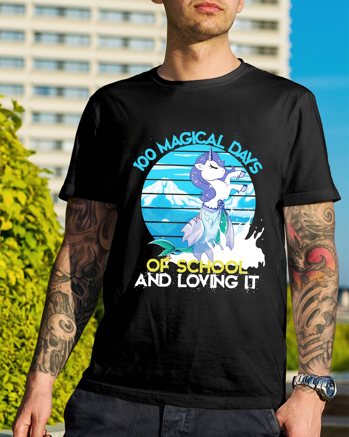 100 magical days of school and loving it Unisex T Shirt Size S-5XL