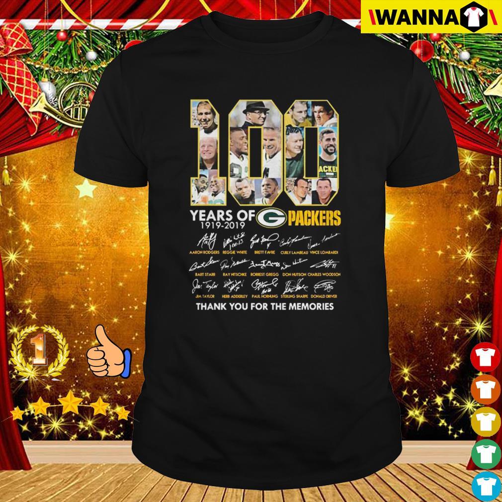 100 year green bay packers thank memories Unisex T Shirt Size S-5XL