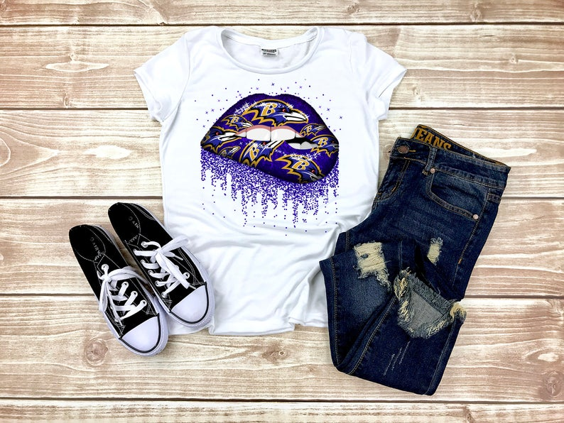 Baltimore Ravens Dripping Lips, Ravens Dripping Lips, Sublimation Shirt