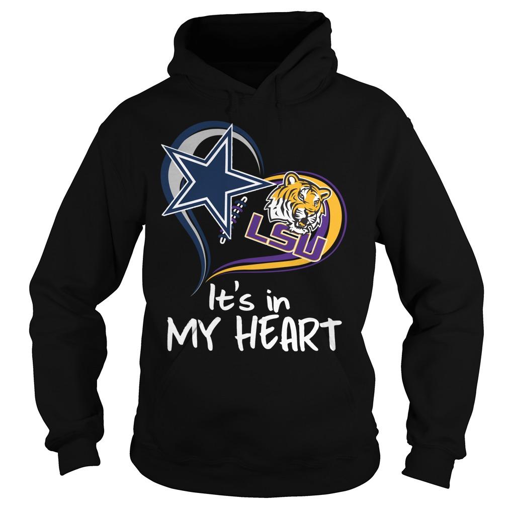 Its In My Heart Dallas Cowboys LSU Tigers Football Teams Fans Shirts