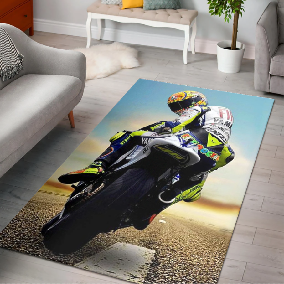 Valentino Rossi Vr46 Area Rug Rugs