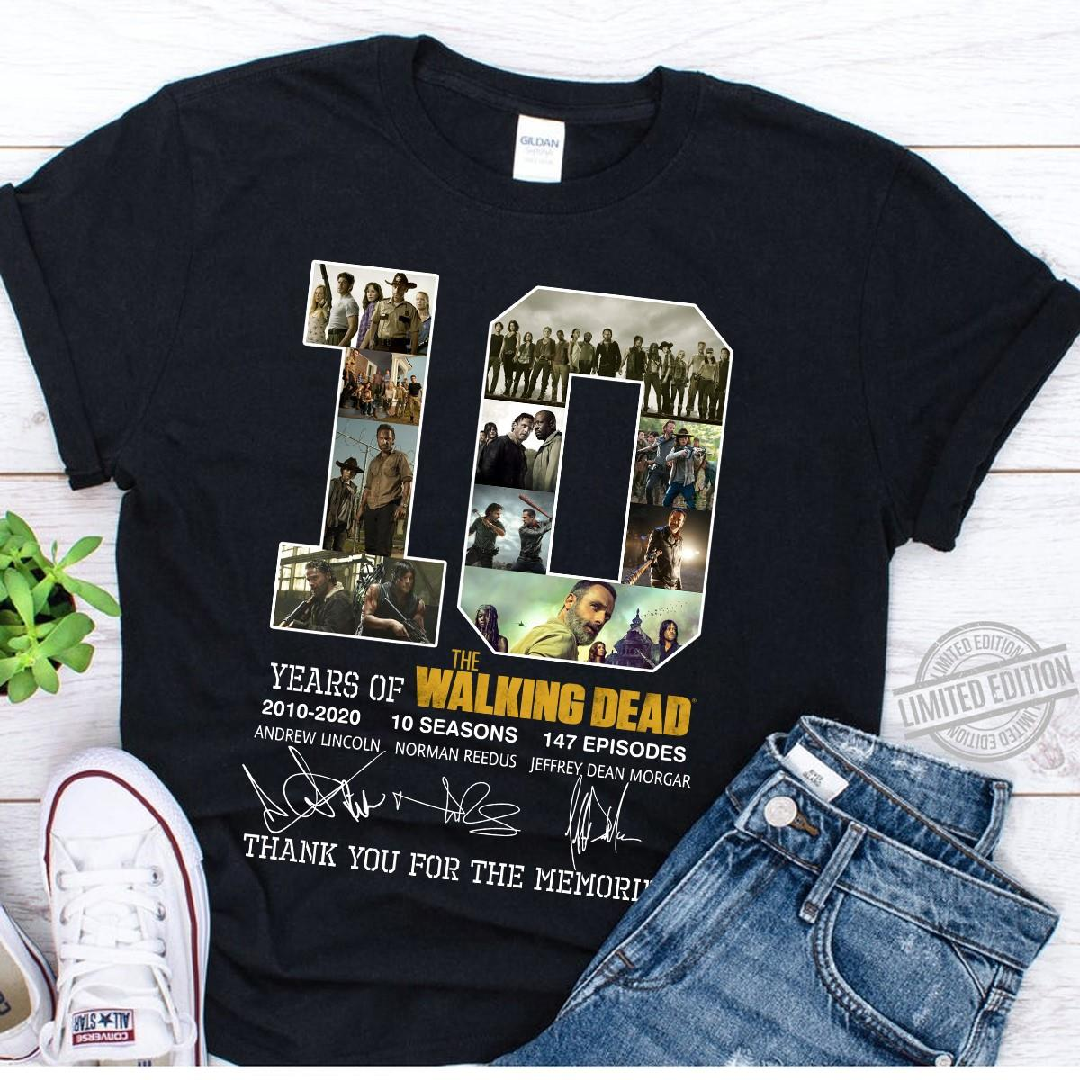 10 Years Of Walking Dead Signature Unisex T-Shirt All Color Size Up To 5XL