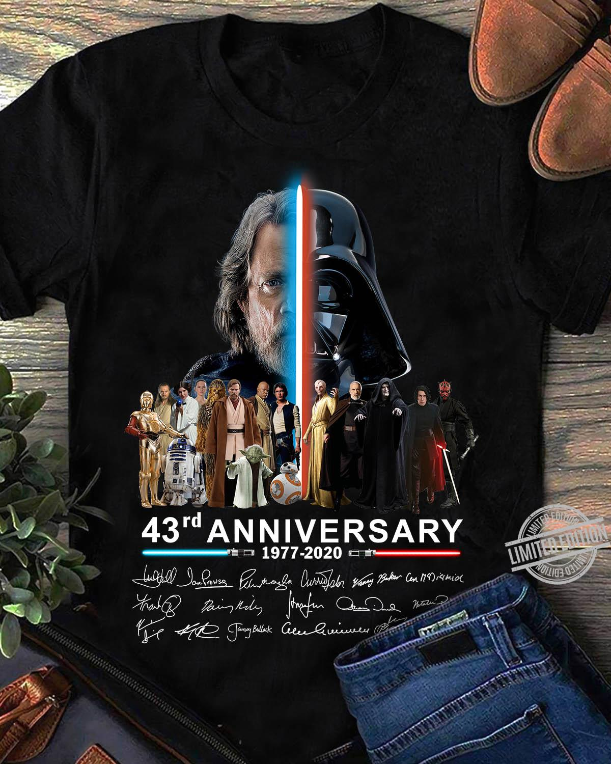 43rd Anniversary 1977 2020 Signature Unisex T-Shirt All Color Size Up To 5XL