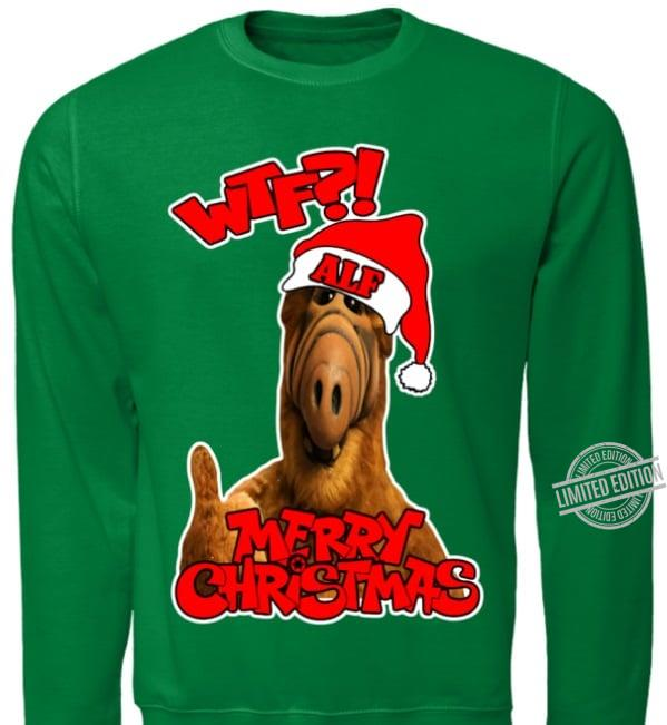 WTF ALF Merry Christmas Unisex T-Shirt All Color Size Up To 5XL
